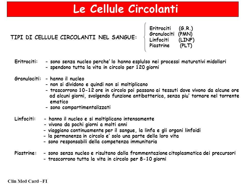 Clin Med Card –FI Fattori di disturbo Conteggio piastrine: - soluzioni sporche - campioni di sangue coagulato (tecnica di prelievo non adeguata) - contaminazione batterica - aggregazione spontanea