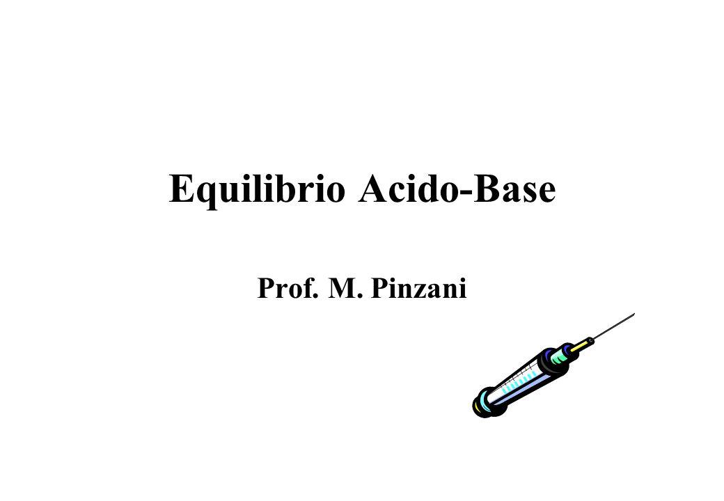 Equilibrio Acido-Base Prof. M. Pinzani