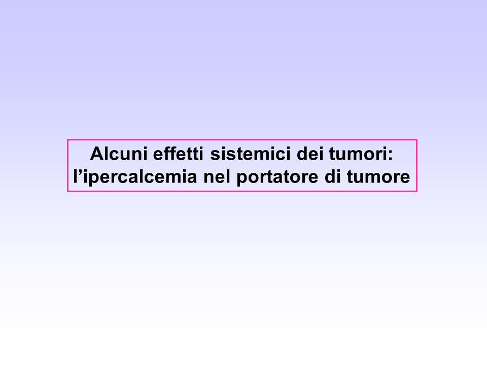 Alcuni effetti sistemici dei tumori: lipercalcemia nel portatore di tumore