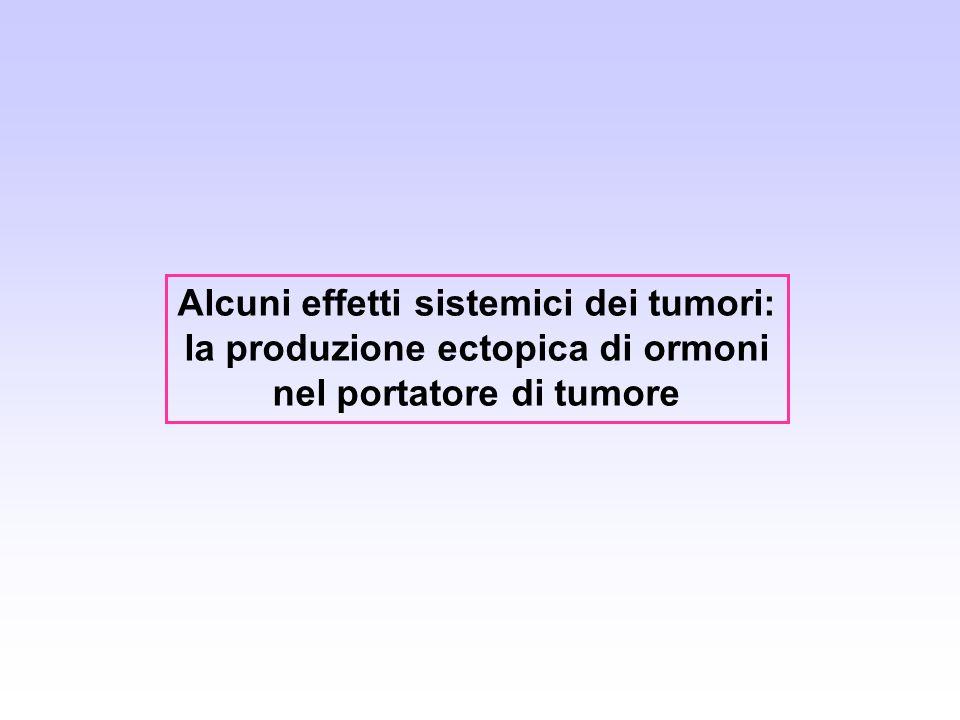 Alcuni effetti sistemici dei tumori: la produzione ectopica di ormoni nel portatore di tumore