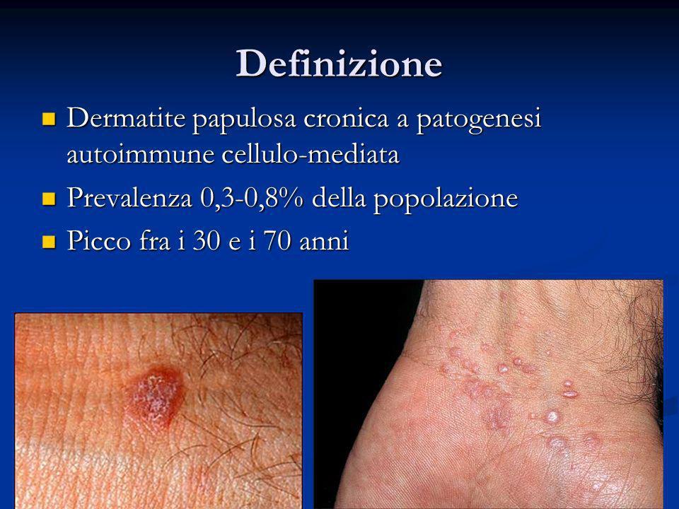 Definizione Dermatite papulosa cronica a patogenesi autoimmune cellulo-mediata Dermatite papulosa cronica a patogenesi autoimmune cellulo-mediata Prev