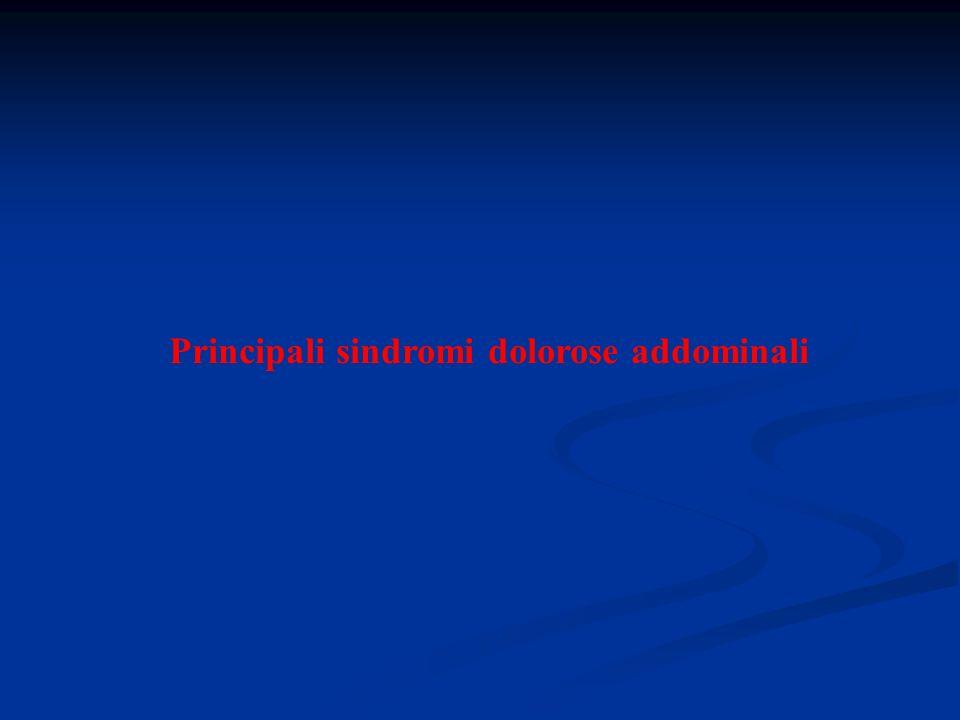 Principali sindromi dolorose addominali