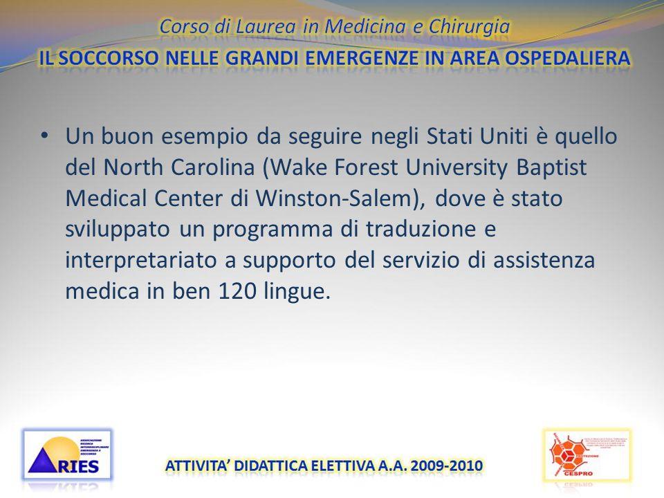 Pronto Soccorso Multilingue negli Ospedali dItalia