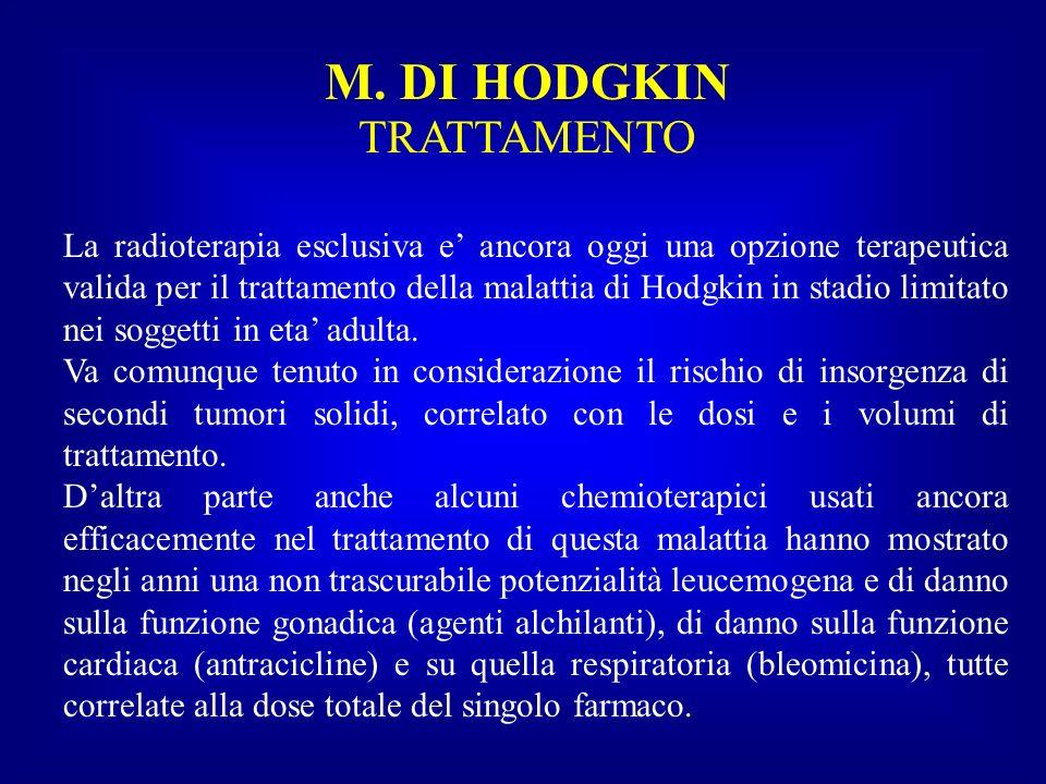 La radioterapia esclusiva e ancora oggi una opzione terapeutica valida per il trattamento della malattia di Hodgkin in stadio limitato nei soggetti in