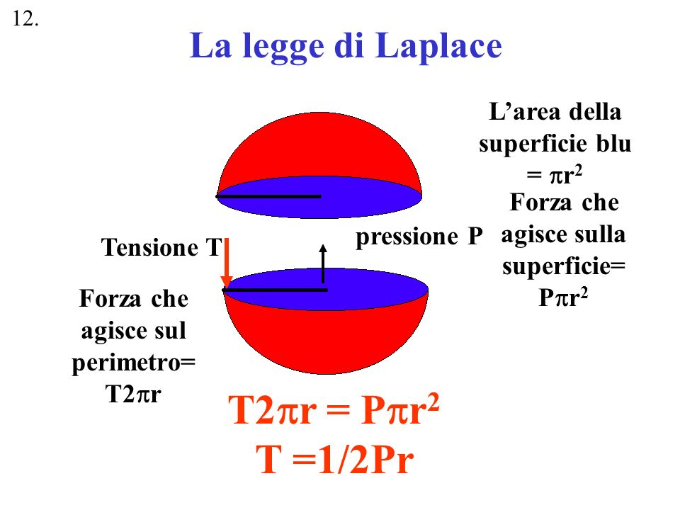 P1P1 P2P2 Cosa succede di P 1 e P 2 se T 1 = T 2 e r 2 =1/2 r 1 .