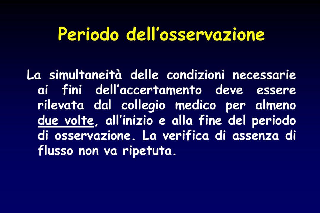 Periodo dellosservazione La simultaneità delle condizioni necessarie ai fini dellaccertamento deve essere rilevata dal collegio medico per almeno due