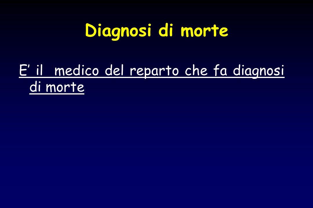 Diagnosi di morte E il medico del reparto che fa diagnosi di morte