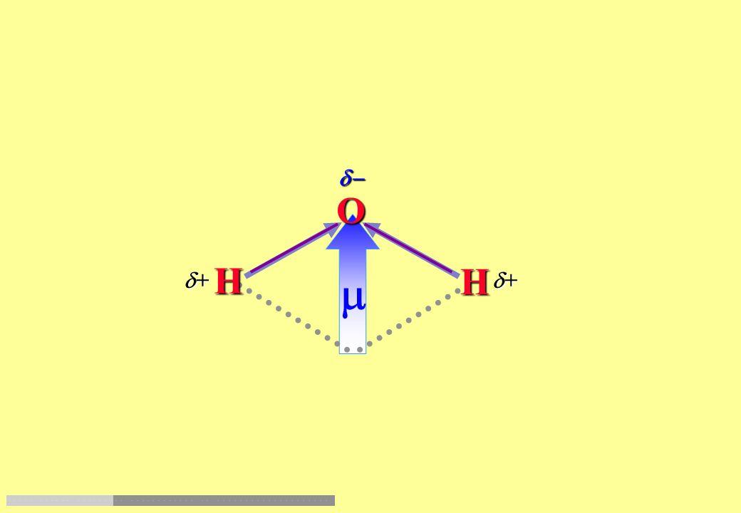 H H O Nellacqua si ha ibridazione sp 3 degli orbitali di valenza dellossigeno