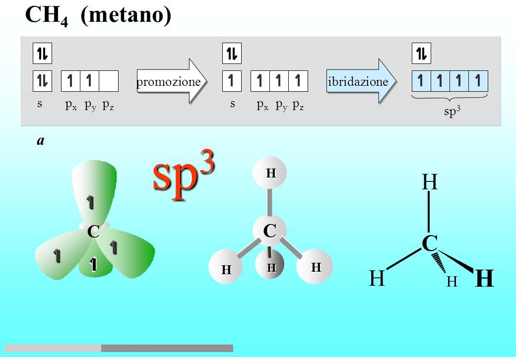 H H H N N H H H Nellammoniaca si ha ibridazione sp 3 degli orbitali di valenza dellazoto