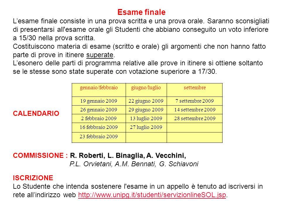 Esame finale Lesame finale consiste in una prova scritta e una prova orale.