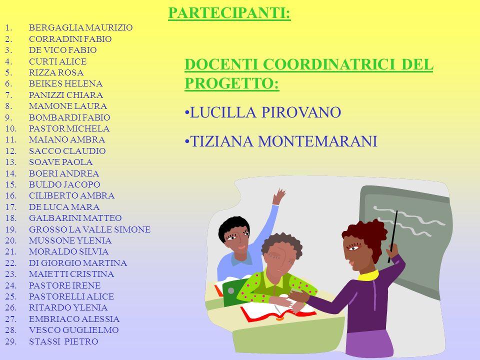 PARTECIPANTI: 1.BERGAGLIA MAURIZIO 2.CORRADINI FABIO 3.DE VICO FABIO 4.CURTI ALICE 5.RIZZA ROSA 6.BEIKES HELENA 7.PANIZZI CHIARA 8.MAMONE LAURA 9.BOMB