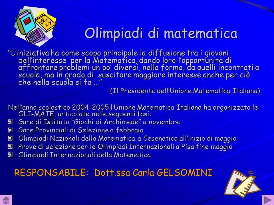47 Olimpiadi di fisica Le Olimpiadi italiane di Fisica e i Giochi di Anacleto sono competizioni individuali riservate agli studenti delle Scuole Medie Superiori e connesse alle Olimpiadi Internazionali.