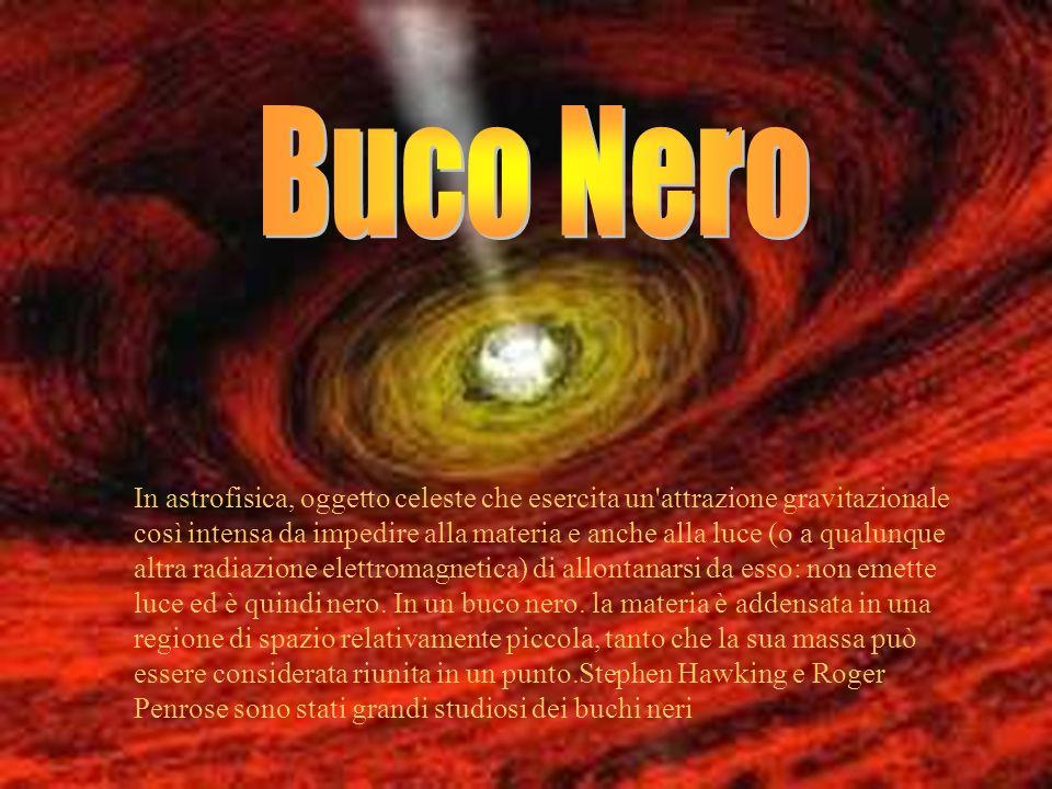 In astrofisica, oggetto celeste che esercita un'attrazione gravitazionale così intensa da impedire alla materia e anche alla luce (o a qualunque altra