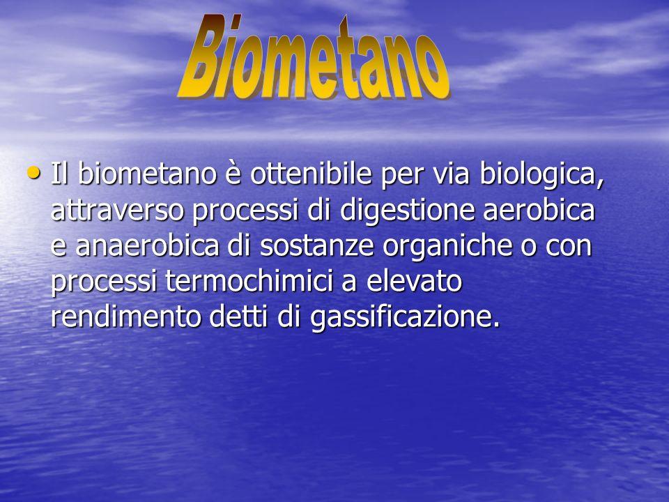 Il biometano è ottenibile per via biologica, attraverso processi di digestione aerobica e anaerobica di sostanze organiche o con processi termochimici