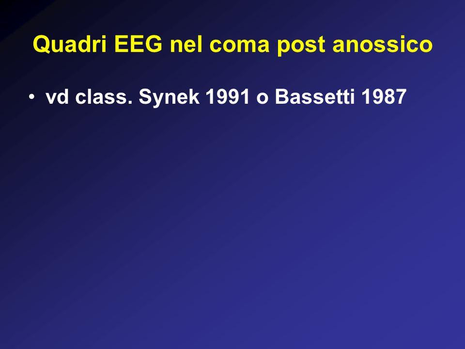 Quadri EEG nel coma post anossico vd class. Synek 1991 o Bassetti 1987