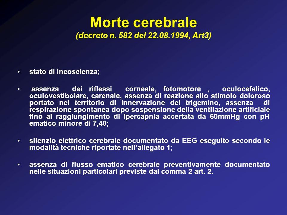 Morte cerebrale (decreto n.