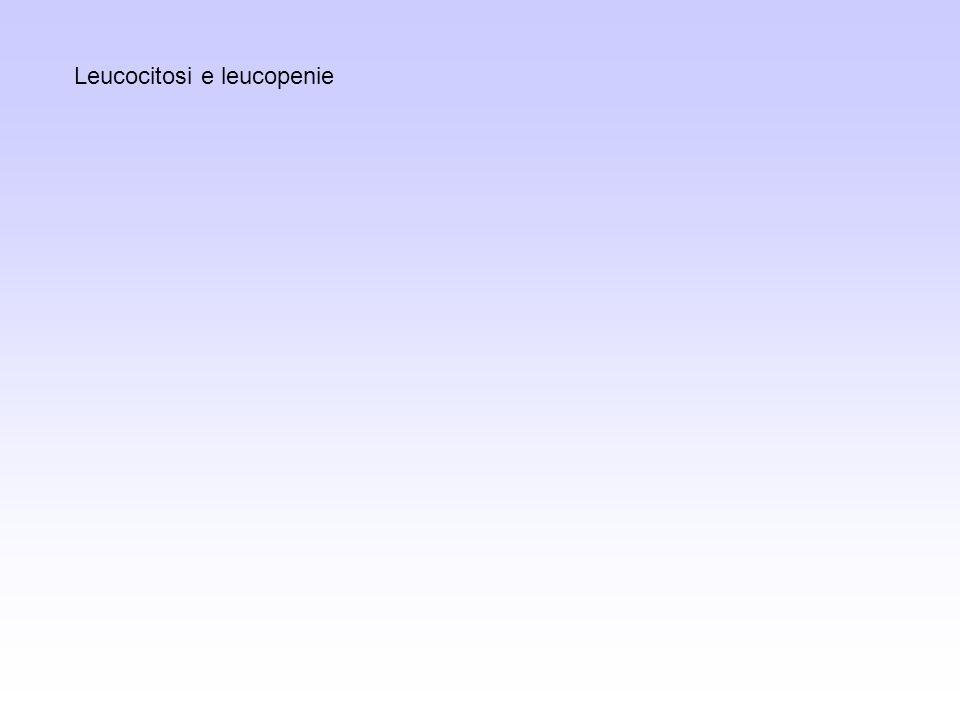 Malattie febbrili Infezioni (es.: da Gram negativi), setticemie Infestazioni Malattie infiammatorie asettiche (es.: gotta) Necrosi ischemiche (es.: infarti) Malattie immunitarie (es.: artrite reumatoide) Tumori (es.: leucemie acute, m.