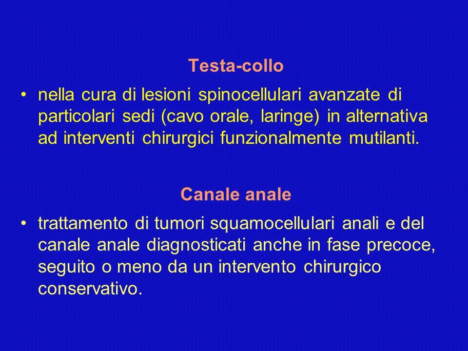 Testa-collo nella cura di lesioni spinocellulari avanzate di particolari sedi (cavo orale, laringe) in alternativa ad interventi chirurgici funzionalm