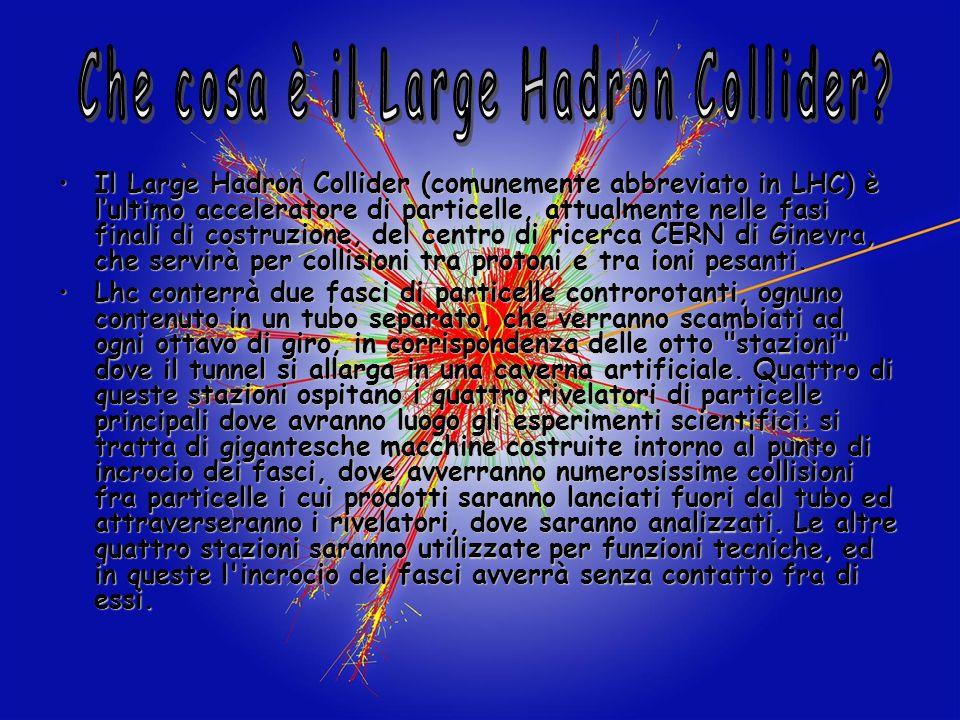 Il Large Hadron Collider (comunemente abbreviato in LHC) è lultimo acceleratore di particelle, attualmente nelle fasi finali di costruzione, del centr