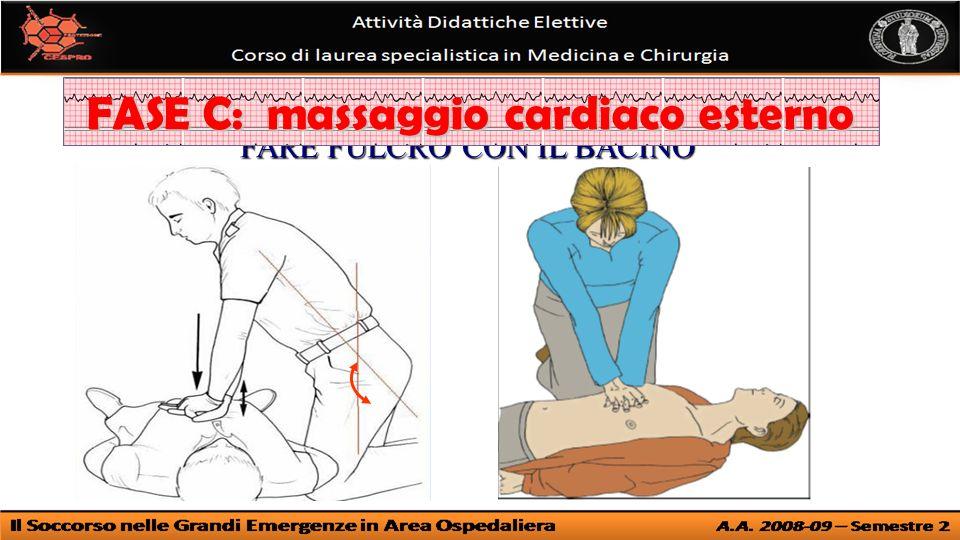 FARE FULCRO CON IL BACINO FASE C: massaggio cardiaco esterno