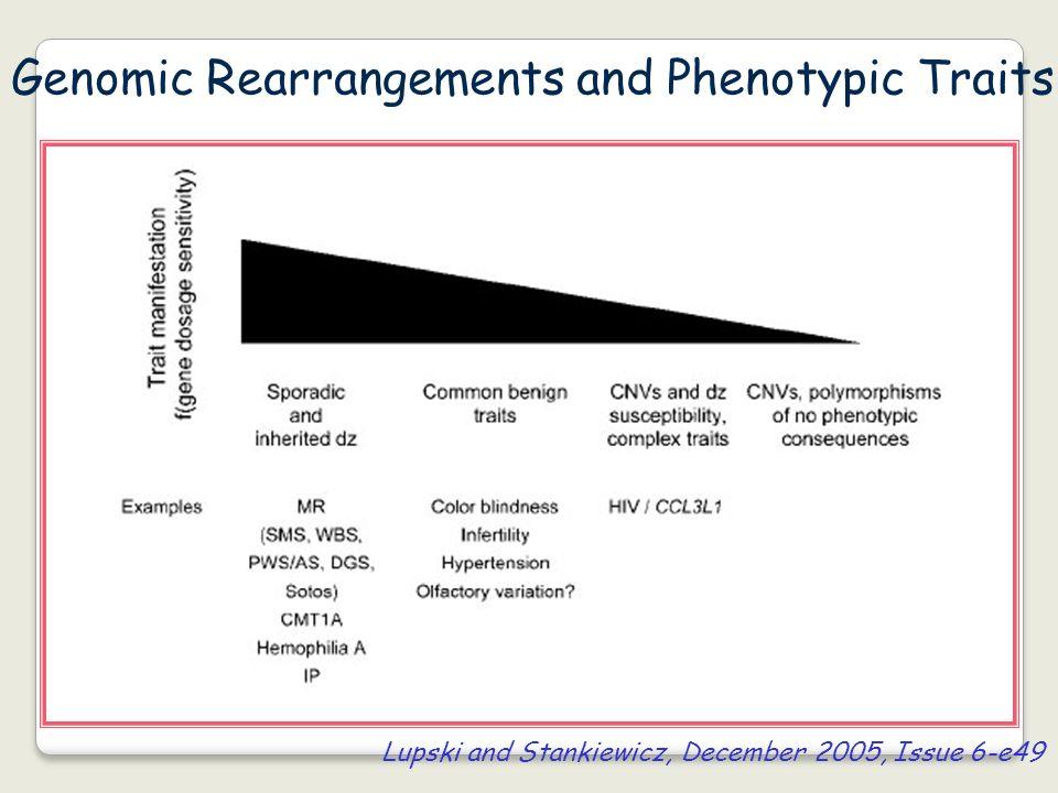 Genomic Rearrangements and Phenotypic Traits Lupski and Stankiewicz, December 2005, Issue 6-e49