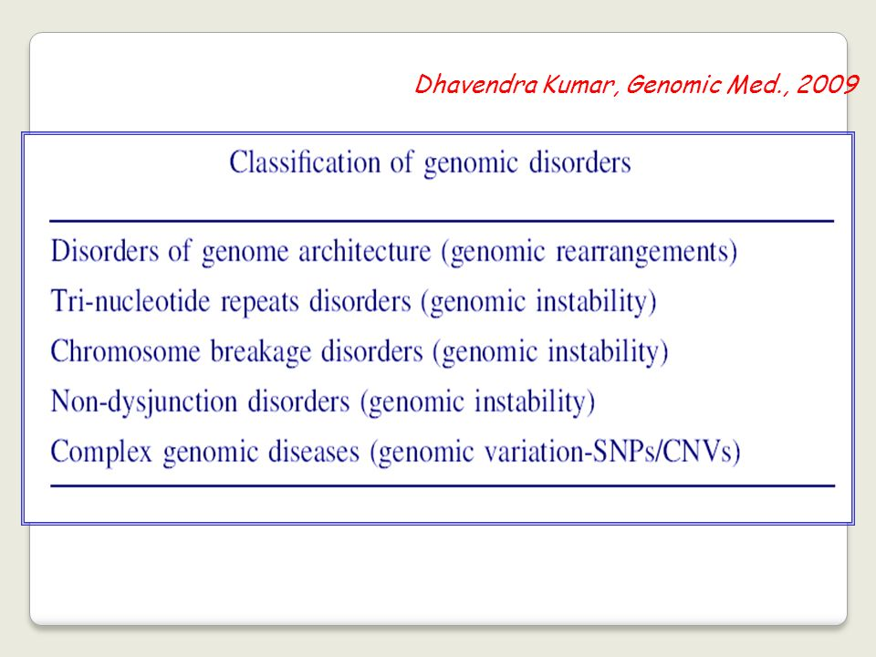 Among these several apparently monogenic disorders result from non-allelic homologous recombination associated with the presence of low copy number repeats on either side of the critical locus or gene cluster.