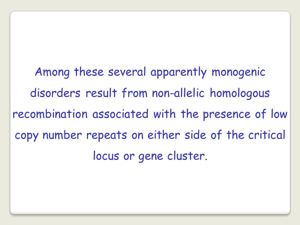Studi dei breakpoints molecolari sui riarrangiamenti cromosomici ricorrenti ha reso possibile capire le cause dei riarrangiamenti strutturali