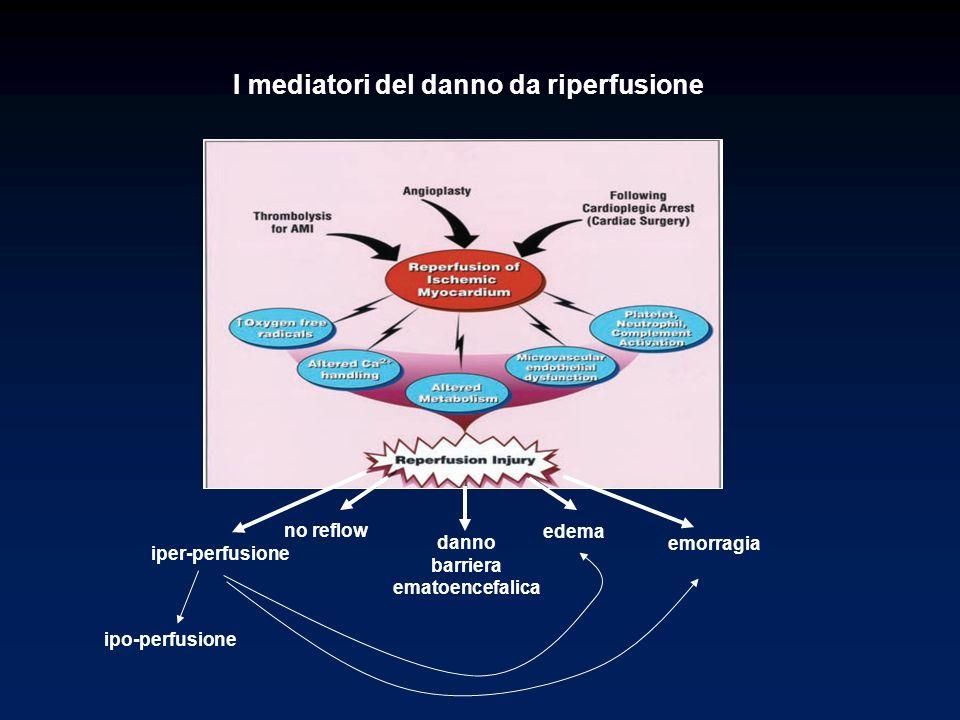 I mediatori del danno da riperfusione no reflow edema danno barriera ematoencefalica emorragia iper-perfusione ipo-perfusione