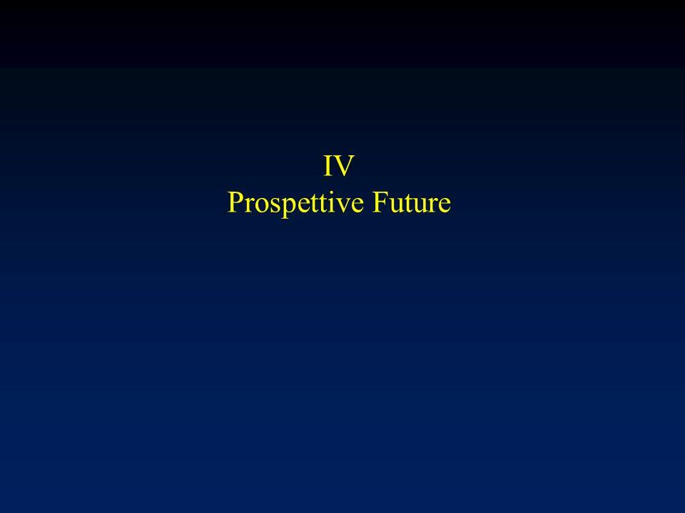 IV Prospettive Future