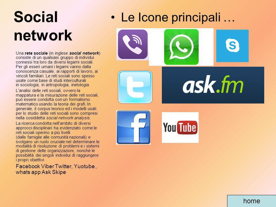 Social network Una rete sociale (in inglese social network) consiste di un qualsiasi gruppo di individui connessi tra loro da diversi legami sociali.
