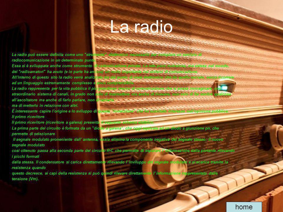 La radio La radio puó essere definita come uno