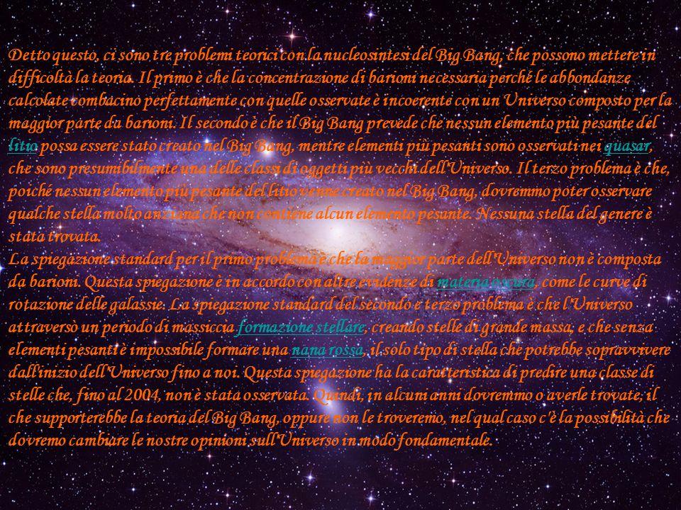 Detto questo, ci sono tre problemi teorici con la nucleosintesi del Big Bang, che possono mettere in difficoltà la teoria.
