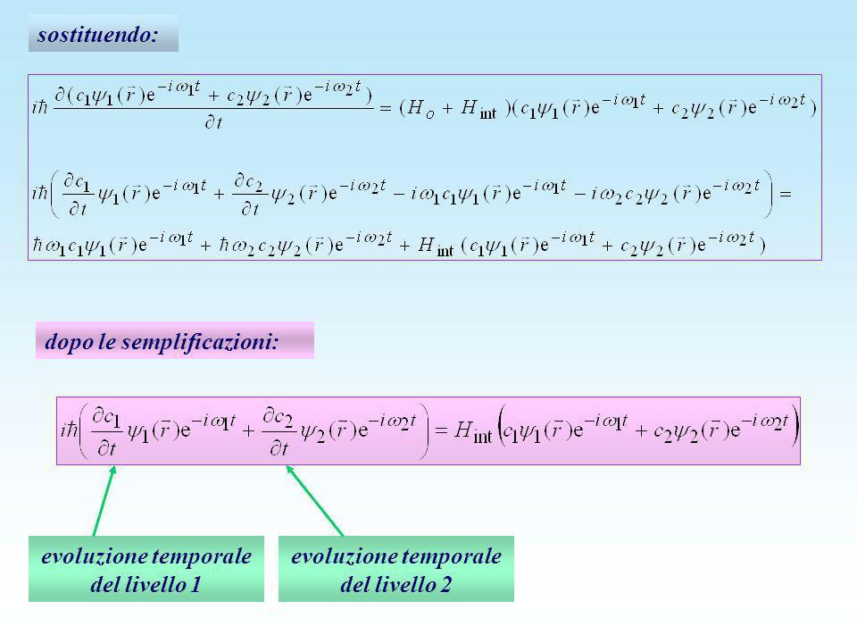sostituendo: dopo le semplificazioni: evoluzione temporale del livello 1 evoluzione temporale del livello 2