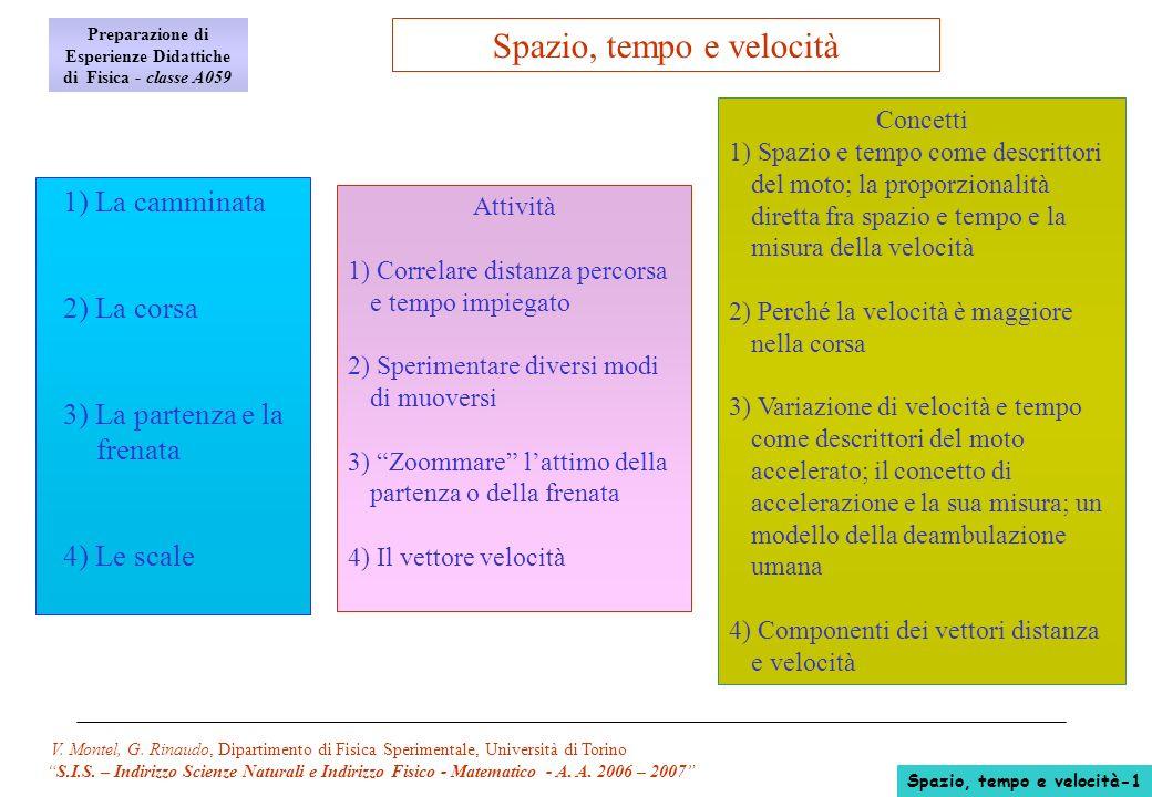 V. Montel, G. Rinaudo, Dipartimento di Fisica Sperimentale, Università di Torino S.I.S. – Indirizzo Scienze Naturali e Indirizzo Fisico - Matematico -