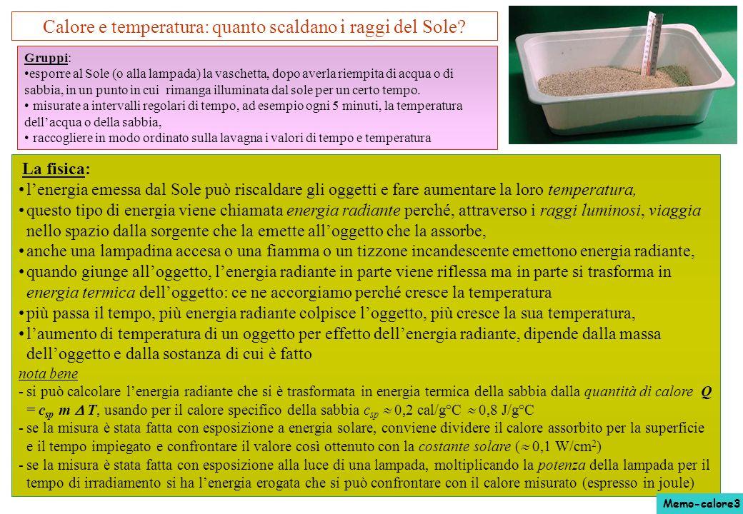 Calore e temperatura: quanto scaldano i raggi del Sole? La fisica: lenergia emessa dal Sole può riscaldare gli oggetti e fare aumentare la loro temper