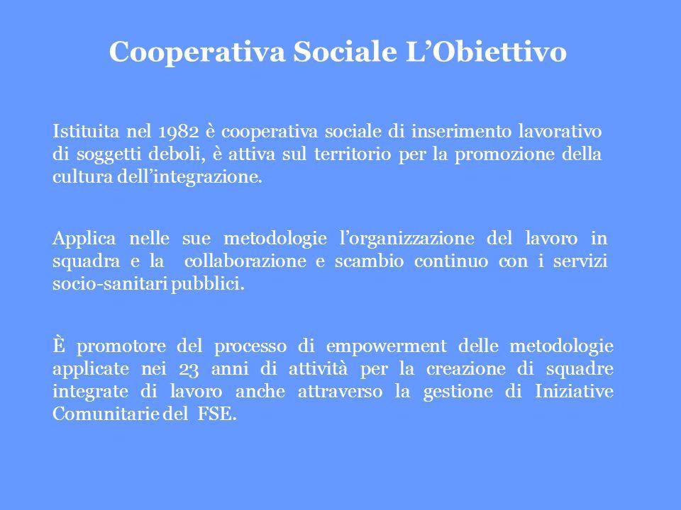 Istituita nel 1982 è cooperativa sociale di inserimento lavorativo di soggetti deboli, è attiva sul territorio per la promozione della cultura dellintegrazione.