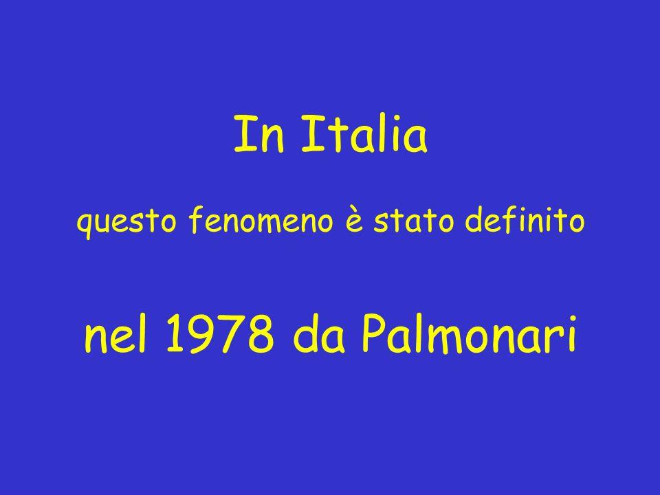 In Italia questo fenomeno è stato definito nel 1978 da Palmonari