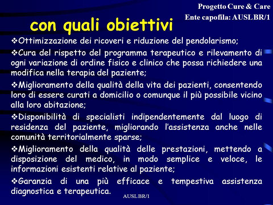 AUSL BR/1 - la Telemedicina Una particolare modalità di erogazione dellassistenza sanitaria, da parte delle istituzioni presenti sul territorio, che p