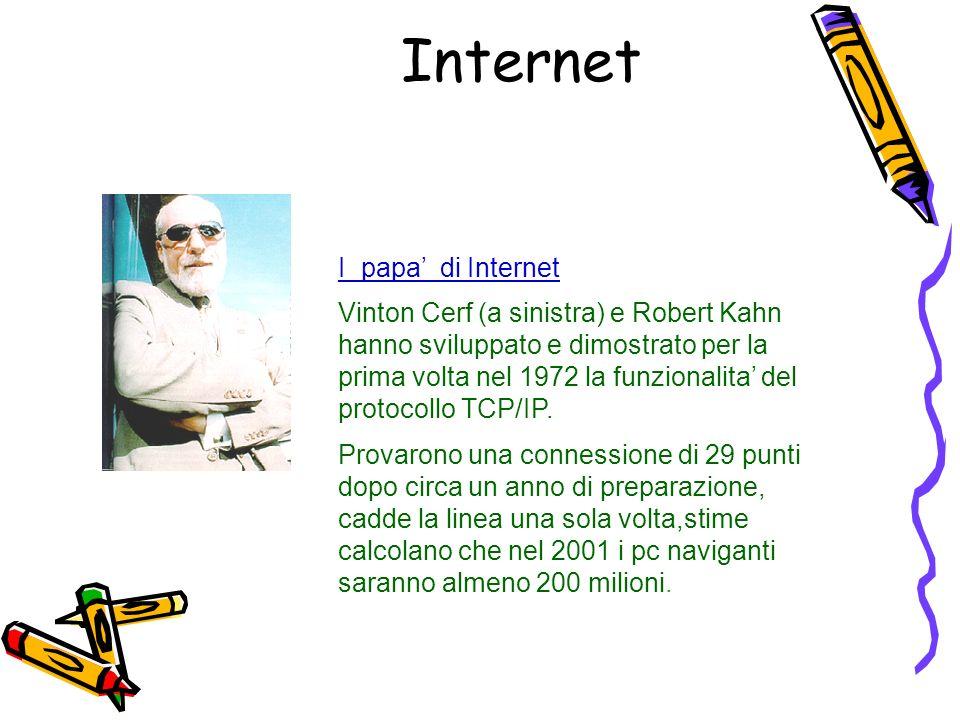 I papa di Internet Vinton Cerf (a sinistra) e Robert Kahn hanno sviluppato e dimostrato per la prima volta nel 1972 la funzionalita del protocollo TCP/IP.