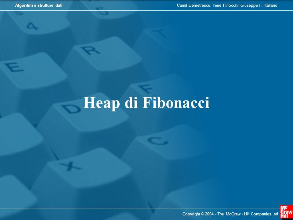 Camil Demetrescu, Irene Finocchi, Giuseppe F. ItalianoAlgoritmi e strutture dati Copyright © 2004 - The McGraw - Hill Companies, srl Heap di Fibonacci