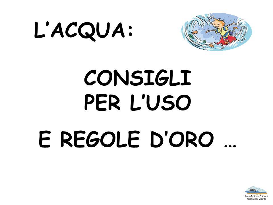 CHIUDIAMO I RUBINETTI !!.