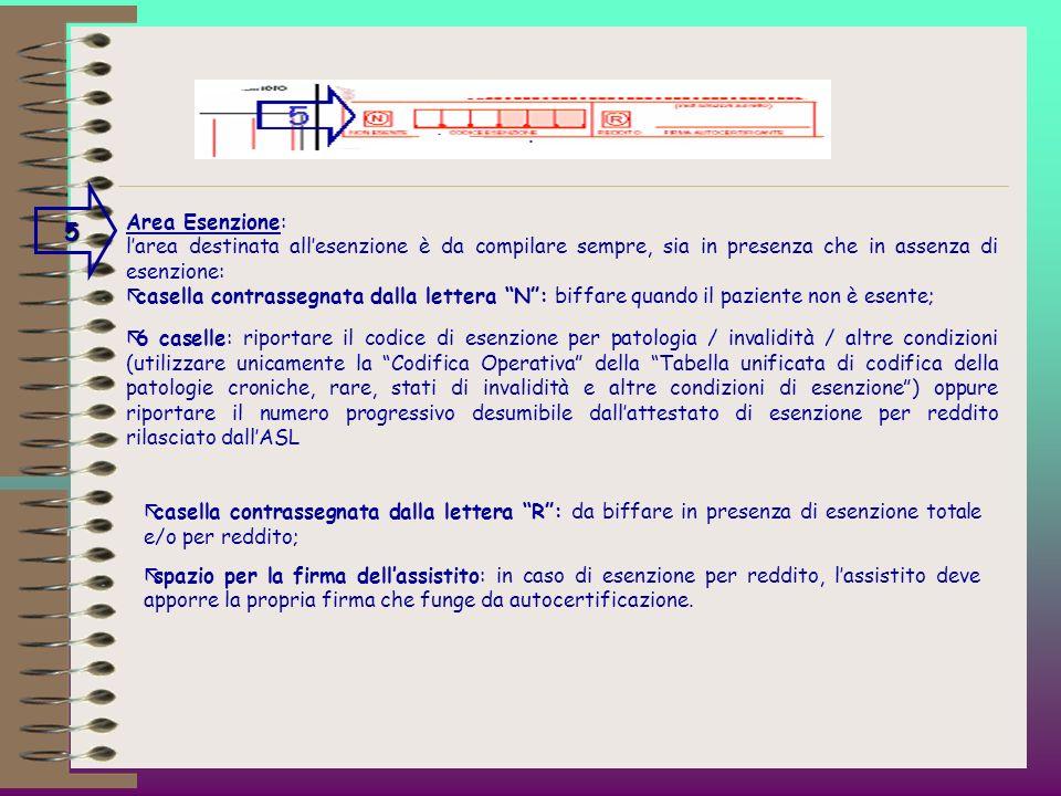 3 Dati anagrafici dellassistito: due righe per lindicazione del cognome e del nome dellassistito, ovvero delle iniziali nonché del domicilio dello ste