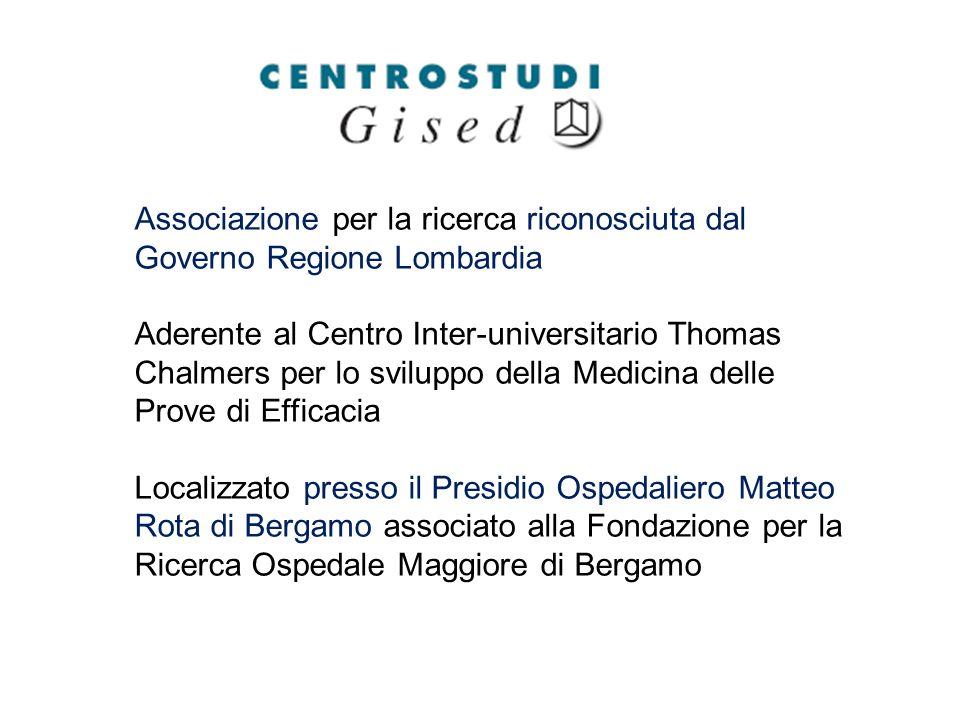 Associazione per la ricerca riconosciuta dal Governo Regione Lombardia Aderente al Centro Inter-universitario Thomas Chalmers per lo sviluppo della Me