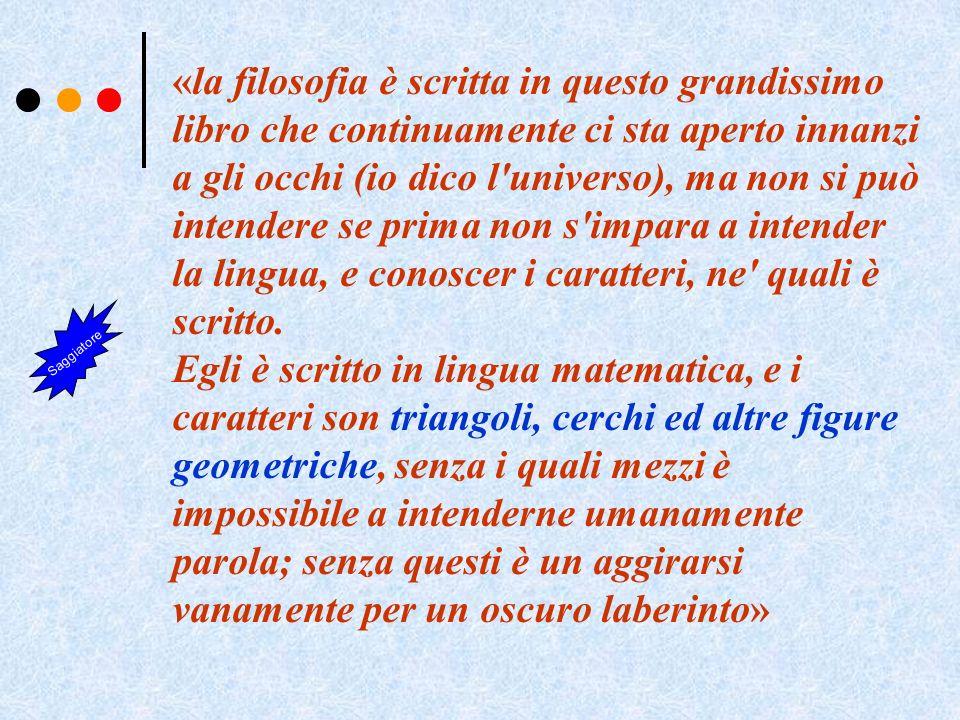 La frase di Galileo scritta nel Saggiatore Oggi gli oggetti matematici sono certamente più astratti e più complessi ma non cambia il senso, compreso quello che anche la Fisica teorica deve poi sottostare alle verifiche sperimentali e questo può suscitare ancora più grandi emozioni.