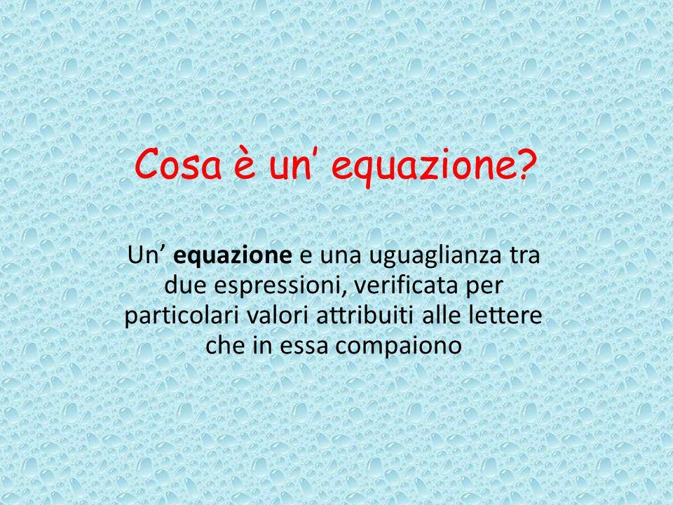 Cosa è un equazione.