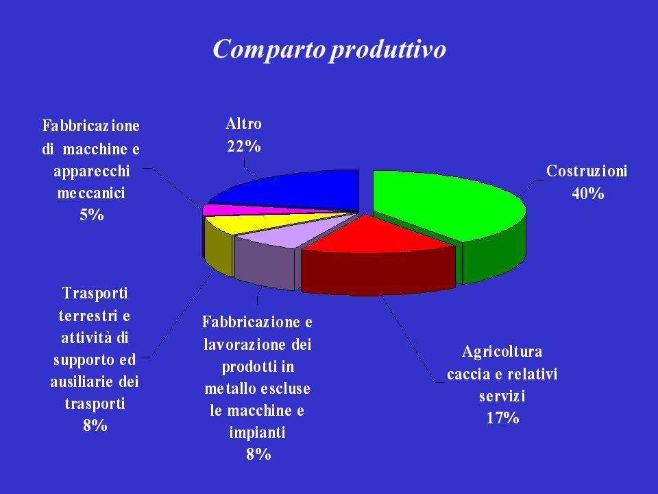 Modalità di accadimento più frequenti e relativi determinanti per Comparto EDILIZIA (53 casi) 45% CADUTA DELLE PERSONE DALLALTO DETERMINANTI: protezioni mancanti o inadeguate procedure scorrette (spesso per uso di attrezzature non idonee) lavoratori non adeguatamente informati e formati 11% RIBALTAMENTO–PERDITA DI CONTROLLO DEL MEZZO DI SOLLEVAMENTO E TRASPORTO DETERMINANTI : uso errato delle macchine, velocità eccessiva, segnaletica insufficiente 6% PROBLEMA ELETTRICO - ESPLOSIONE DETERMINANTI: errori di procedura che determinano contatti con cavi elettrici