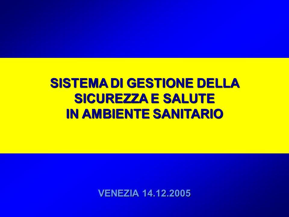 SISTEMA DI GESTIONE DELLA SICUREZZA E SALUTE IN AMBIENTE SANITARIO VENEZIA 14.12.2005
