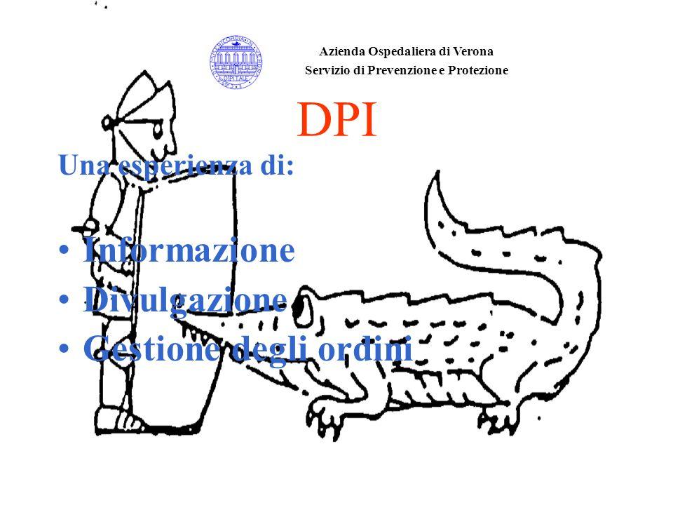 DPI Una esperienza di: Informazione Divulgazione Gestione degli ordini Azienda Ospedaliera di Verona Servizio di Prevenzione e Protezione
