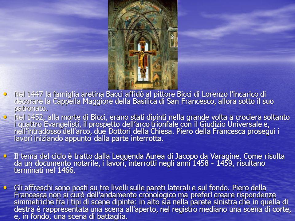 Nel 1447 la famiglia aretina Bacci affidò al pittore Bicci di Lorenzo l'incarico di decorare la Cappella Maggiore della Basilica di San Francesco, all