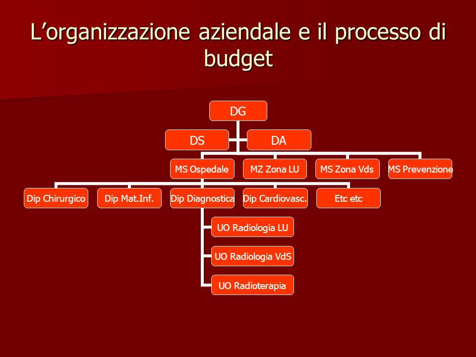 Lorganizzazione aziendale e il processo di budget